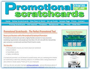 Promotional scratchcards